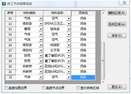 热工节点材料区域设置对话框